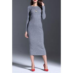 Long Sleeve Midi Bodycon Sweater Dress