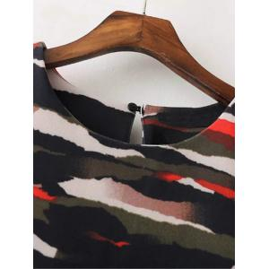 Casual Long Sleeve Camo Print Mini Dress - COLORMIX L