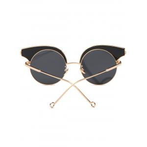 Cool Round Lens Butterfly Sunglasses - BLACK