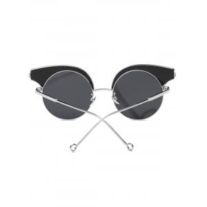 Cool Round Lens Butterfly Mirror Sunglasses - SILVER
