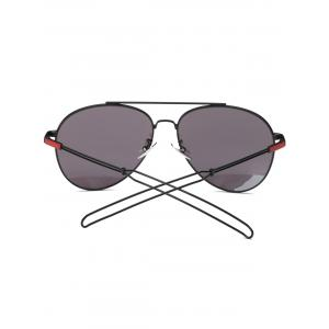 Cool Crossbar Hollow Out Leg Pilot Sunglasses - WINE RED