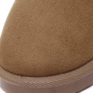 Concise Flat Heel Fold Down Snow Boots -