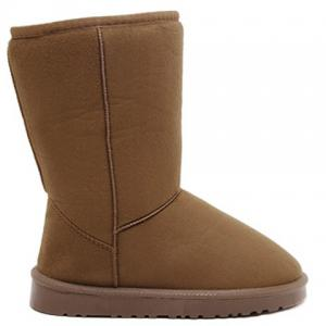 Concise Flat Heel Fold Down Snow Boots - LIGHT BROWN 40