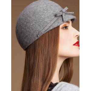 Outdoor Bowknot Lace up Cloche Hat -
