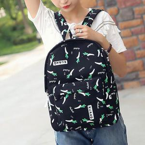 Foods Printed Canvas Backpack -