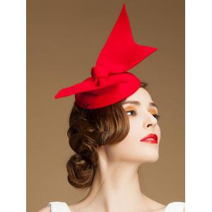 Charming Butterfly Knot Cocktail Hat - RED