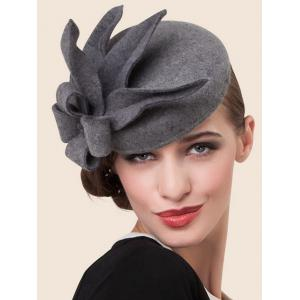 Handmade Wool Floral Cocktail Hat -