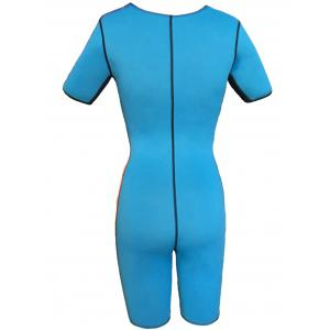 Double Side Color Block Siamesed Bustiers - BLUE M