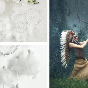 Double Circular Net With Feathers Dreamcatcher Wall Hanging Decor -