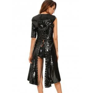 Halloween lacets cosplay costume brillant - Noir S