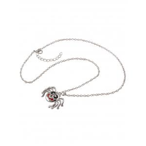 Polished Enamel Spider Pendant Necklace -