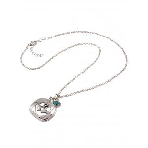 Polished Enamel Pumpkin Pendant Necklace -