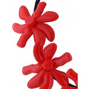 Resin Flower Embellished Necklace - RED