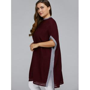 Side Slit Plus Size Pullover Sweater -