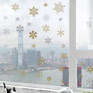 Christmas Snowflake Pattern Glass Window Wall Stickers For Toilet -
