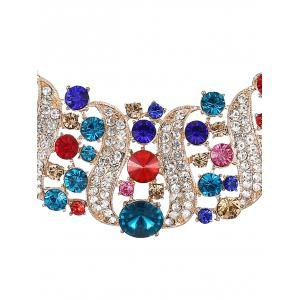 Hollow Out Rhinestoned Jewelry Set -