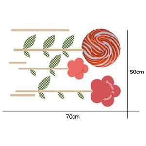 Waterproof Lollipop Floral Design Removable Wall Stickers -