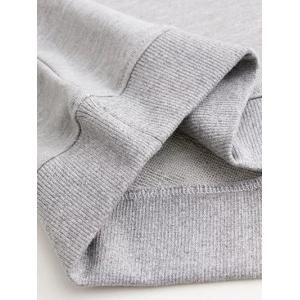 Loose Oxford Letter Sweatshirt - GRAY S