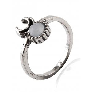 Crucifix Elephant Flower Water Drop Rings - SILVER ONE-SIZE