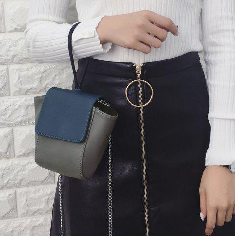 New Colour Spliced Faux Leather Crossbody Bag