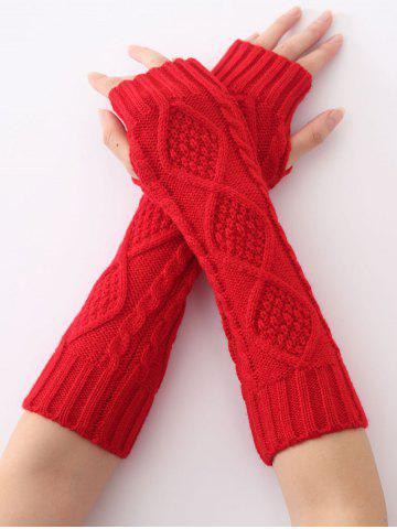 Store Christmas Winter Diamond Hollow Out Crochet Knit Arm Warmers