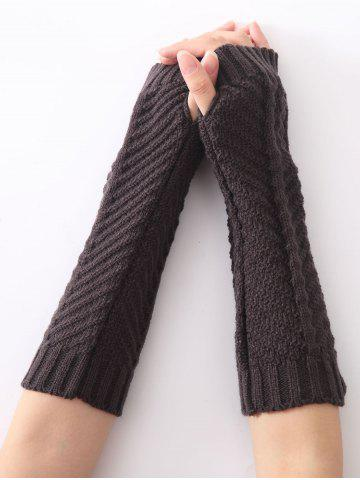 Shops Christmas Winter Fishbone Crochet Knit Arm Warmers DEEP GRAY