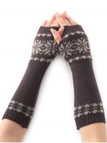 Hot Winter Warm Christmas Snow Floral Crochet Knit Arm Warmers