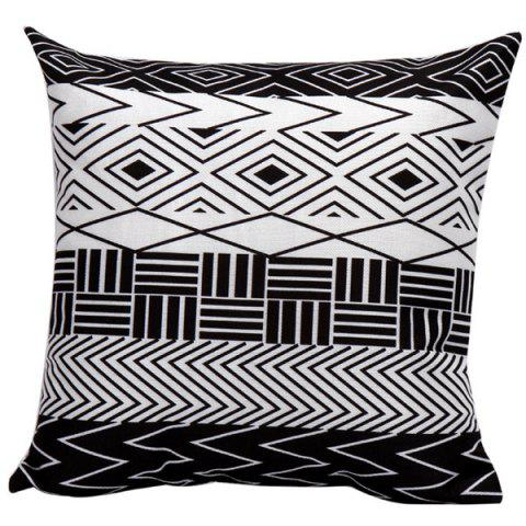 Outfits Soft Decorative Geometrics Stripes Sofa Bed Pillow Case