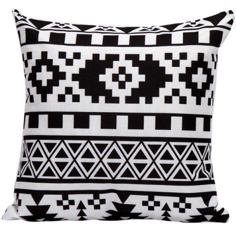 Trendy Soft Decorative Household Geometrics Pillow Case WHITE AND BLACK