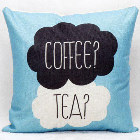 Fancy Hot Sale Coffee Tea Decorative Household Pillow Case COLORMIX