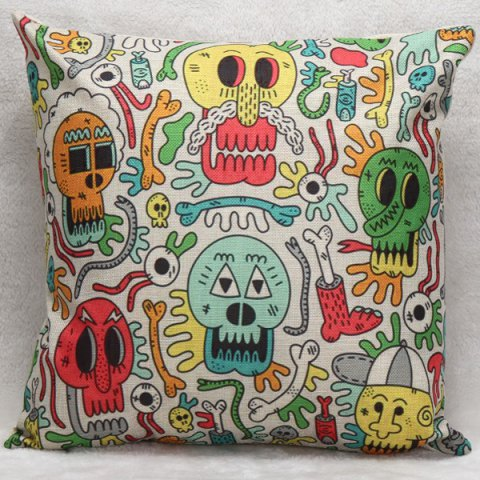 Store Colorful Skulls Decorative Household Pillow Case