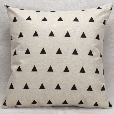 Outfit Decorative Household Little Triangles Pillow Case WHITE AND BLACK
