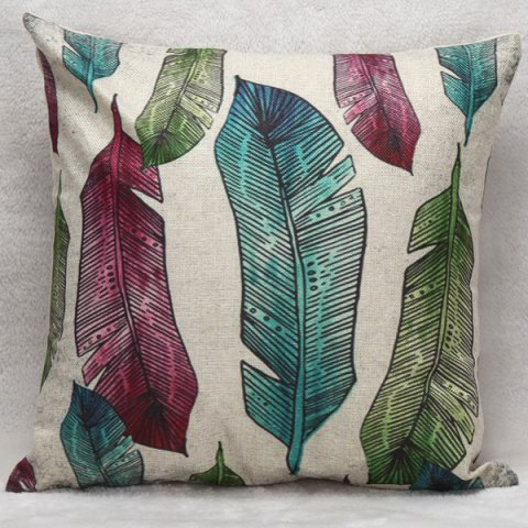 Online Decorative Household Banana Leaves Pillow Case COLORMIX