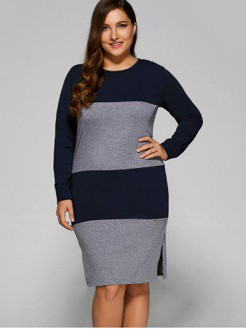 Buy Color Block Furcal Dress