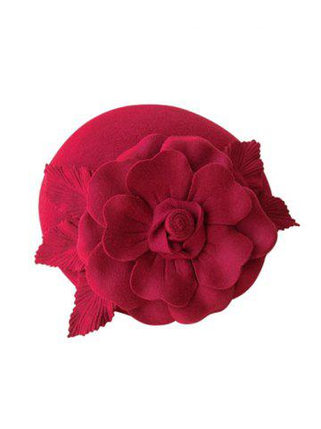 Affordable Wool Layered Floral Cocktail Hat