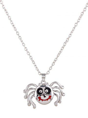 Chic Polished Enamel Spider Pendant Necklace