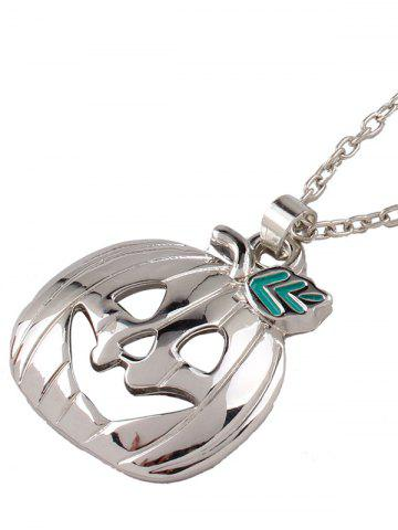 Discount Polished Enamel Pumpkin Pendant Necklace