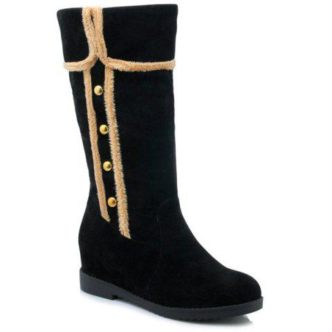 Shops Dome Stud Increased Internal Mid-Calf Boots BLACK 39
