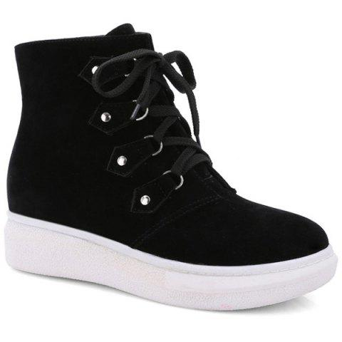 Hot Metal Lace-Up Suede Ankle Boots