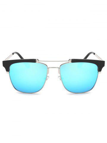 Discount Cool Crossbar Metal Frame Butterfly Mirror Sunglasses