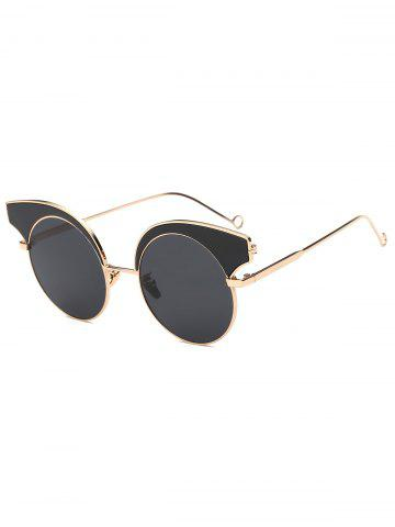 Outfits Cool Round Lens Butterfly Sunglasses BLACK