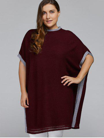 Outfits Side Slit Plus Size Pullover Sweater