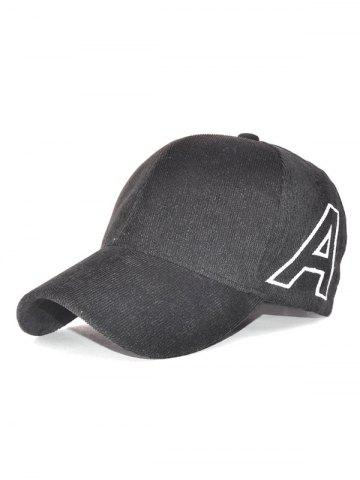 Hot Casual Letter A Embroidery Corduroy Baseball Hat