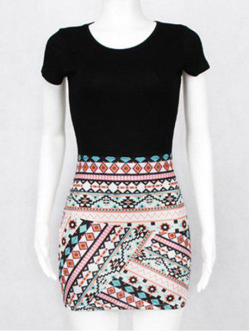 Outfits Ethnic Mini Printed Bodycon Dress
