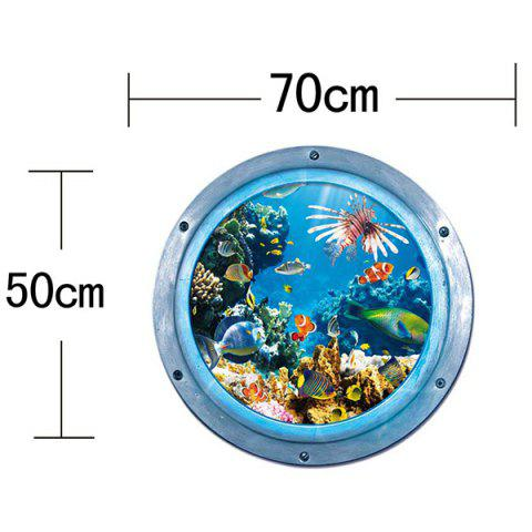 Buy 3D Stereo Sea World Toilet Home Decor Wall Stickers - BLUE  Mobile