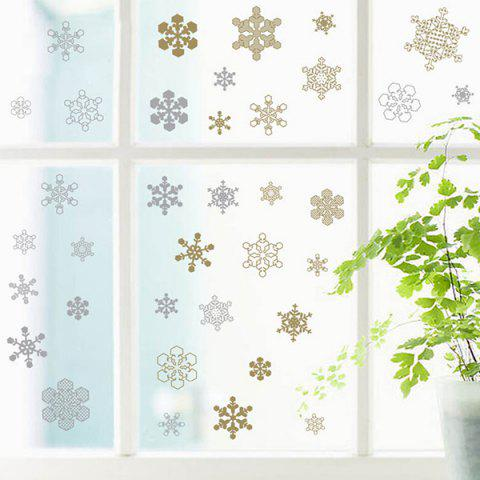Online Christmas Snowflake Pattern Glass Window Wall Stickers For Toilet WHITE
