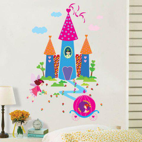 Buy Waterproof Cartoon Castle Pattern Wall Decals Kids Room