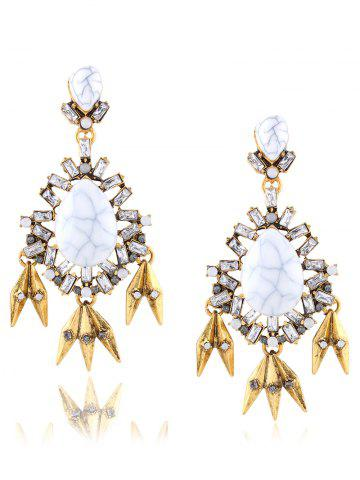 Discount Rhinestone Water Drop Leaf Layered Earrings