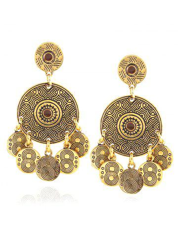 Outfit Vintage Engraved Alloy Circle Earrings