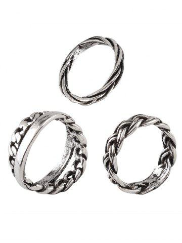 Buy Vintage Alloy Braid Circle Rings
